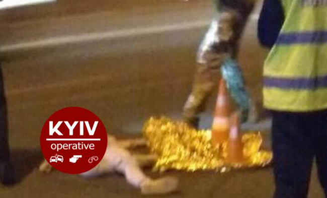 Ночью в Киеве внедорожник насмерть сбил девушку: фото
