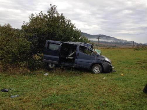 На Львовщине перевернулся автобус со словаками: 7 травмированных