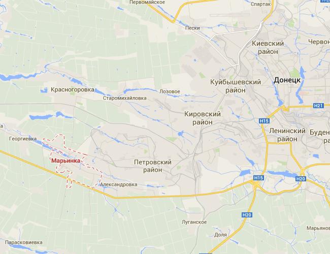 Ситуация в Донецке: активные боевые действия ведутся в Марьинке