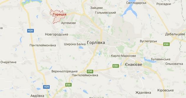 Из-за обстрела состороны боевиков Торецк остался без воды