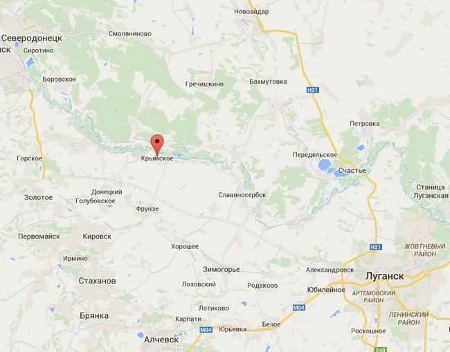 Боевики 9 раз обстреляли Крымское из минометов и Градов