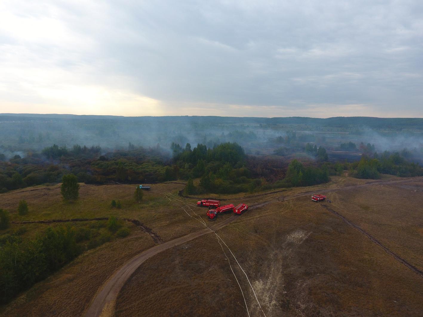 В Черкасской области объявлен режим ЧС из-за горящего торфа: фото